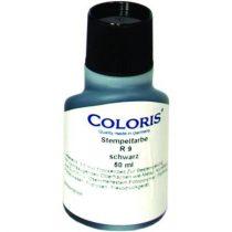 """COLORIS Bélyegzőfesték, 50 ml, ipari, univerzális, COLORIS """"R9"""", fekete"""