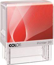 """COLOP Bélyegző, COLOP """"Printer IQ 20"""" fehér ház - fekete párnával"""