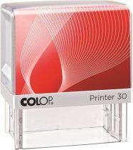 "COLOP Bélyegző, szó, COLOP ""Printer IQ 30"" fehér ház - fekete párnával"