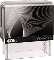 """COLOP Bélyegző, szó, COLOP """"Printer IQ 40"""" fekete ház - fekete párnával"""
