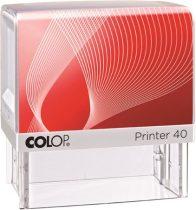 "COLOP Bélyegző, szó, COLOP ""Printer IQ 40"" fehér ház - fekete párnával"
