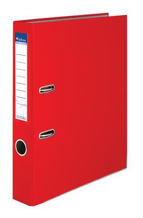 """VICTORIA Iratrendező, 50 mm, A4, PP/karton, élvédő sínnel, VICTORIA, """"Basic"""", piros"""