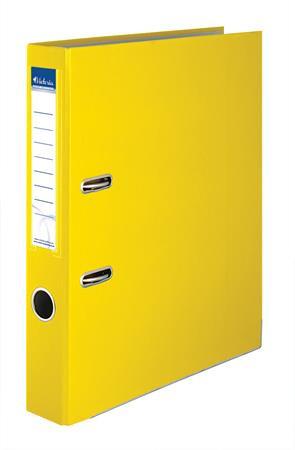 """VICTORIA Iratrendező, 50 mm, A4, PP/karton, élvédő sínnel, VICTORIA, """"Basic"""", sárga"""