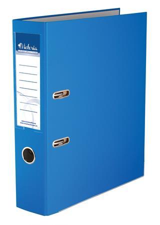 """VICTORIA Iratrendező, 75 mm, A4, PP/karton, élvédő sínnel, VICTORIA, """"Basic"""", kék"""