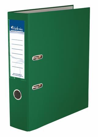 "VICTORIA Iratrendező, 75 mm, A4, PP/karton, VICTORIA, ""Basic"", zöld"