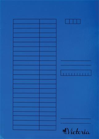 VICTORIA Gyorsfűző, karton, A4, VICTORIA, kék