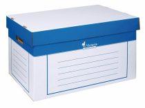 VICTORIA Archiváló konténer, 320x460x270 mm, karton, VICTORIA, kék-fehér