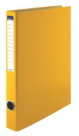 VICTORIA Gyűrűs könyv, 2 gyűrű, 35 mm, A4, PP/karton, VICTORIA, sárga