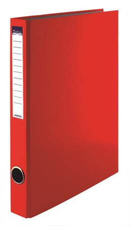 VICTORIA Gyűrűs könyv, 2 gyűrű, 35 mm, A4, PP/karton, VICTORIA, piros