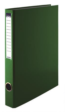 VICTORIA Gyűrűs könyv, 2 gyűrű, 35 mm, A4, PP/karton, VICTORIA, zöld