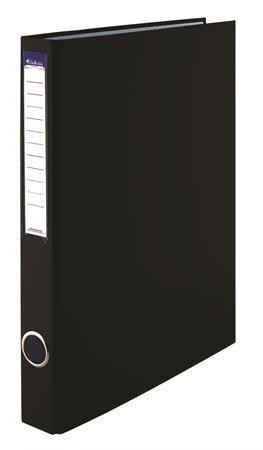 VICTORIA Gyűrűs könyv, 2 gyűrű, 35 mm, A4, PP/karton, VICTORIA, fekete