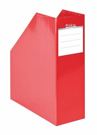 """VICTORIA Iratpapucs, karton, 90 mm, VICTORIA, """"Premium"""", piros"""
