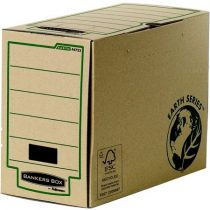 """FELLOWES Archiváló doboz, 200 mm, """"BANKERS BOX® EARTH SERIES by FELLOWES®"""", barna"""