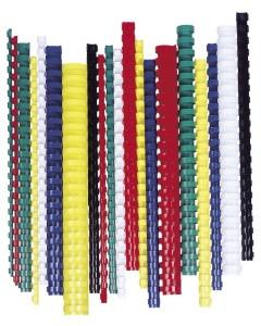 FELLOWES Spirál, műanyag, 8 mm, 21-40 lap, FELLOWES, 100 db, fekete
