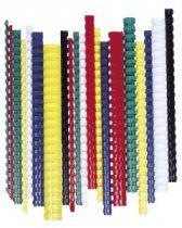 FELLOWES Spirál, műanyag, 10 mm, 41-55 lap, FELLOWES, 100 db, piros