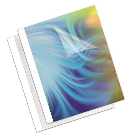 """FELLOWES Hőkötőborító, 3 mm, 170 g, 11-32 lap, matt, A4, FELLOWES """"Coverlight"""", fehér"""