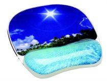 """FELLOWES Egéralátét csuklótámasszal, géltöltésű, FELLOWES """"Photo™ Gel"""", trópusi strand"""
