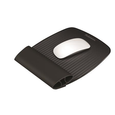 FELLOWES Egéralátét szilikonos csuklótámasszal, FELLOWES I-Spire Series™, fekete