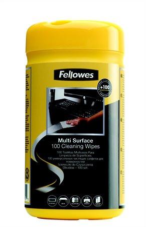 FELLOWES Tisztítókendő, általános felületre, 100 db, FELLOWES