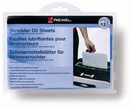 REXEL Olajozó lap iratmegsemmisítőhöz, A5, 12 db, REXEL