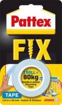 """HENKEL Ragasztószalag, kétoldalas, 19 mm x 1,5 m, HENKEL """"Pattex Fix 80 kg"""", kék"""