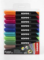 """KORES Alkoholos marker, 3-5 mm, kúpos, KORES """"K-Marker"""", 10 különböző szín"""