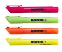"""KORES Szövegkiemelő készlet, 0,5-5 mm, KORES """"High Liner Plus"""", 4 különböző szín"""
