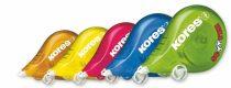 """KORES Hibajavító roller, 4,2 mm x 8 m, KORES """"Scooter"""", vegyes színek"""