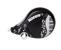 "KORES Hibajavító roller, 4,2 mm x 8 m, KORES ""Scooter Black&White"", vegyes"