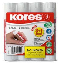 KORES Ragasztóstift, 20 g, 3+1 akciós kiszerelés, KORES