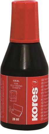 KORES Bélyegzőfesték, 28 ml, KORES, piros