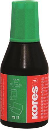 KORES Bélyegzőfesték, 28 ml, KORES, zöld