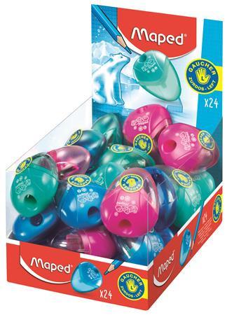 """MAPED Hegyező display, egylyukú, tartályos, balkezes, MAPED """"I-Gloo"""", vegyes színek"""