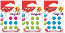 MAPED Mágnes, kerek, 10 mm, MAPED, vegyes színek