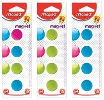 MAPED Mágnes, kerek, 22 mm, MAPED, vegyes színek