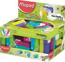"""MAPED Radír display, műanyagtokos, MAPED """"Technic Wings"""", vegyes színek"""