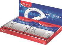 """MAPED Szögmérő, műanyag 180°-os kínáló dobozos MAPED """"Essentials"""""""