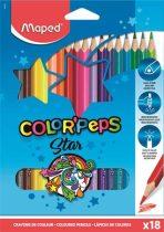 """MAPED Színes ceruza készlet, háromszögletű, MAPED """"Color'Peps"""", 18 különböző szín"""