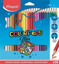 """MAPED Színes ceruza készlet, háromszögletű, MAPED """"Color'Peps"""", 24 különböző szín"""