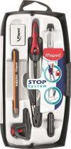 """MAPED Körző készlet, rögzíthető lábakkal, 7 darabos, MAPED """"Stop System"""""""