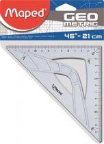"MAPED Háromszög vonalzó, műanyag, 45°, 21 cm, MAPED ""Geometric"""