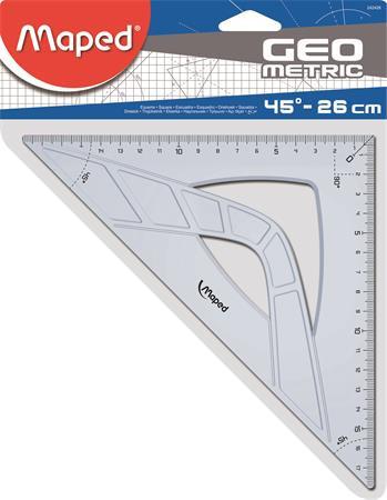"MAPED Háromszög vonalzó, műanyag, 45°, 26 cm, MAPED ""Geometric"""