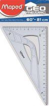 "MAPED Háromszög vonalzó, műanyag, 60°, 21 cm, MAPED ""Geometric"""