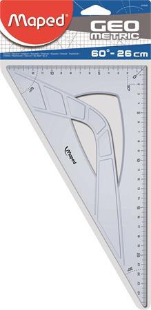 "MAPED Háromszög vonalzó, műanyag, 60°, 26 cm, MAPED ""Geometric"""