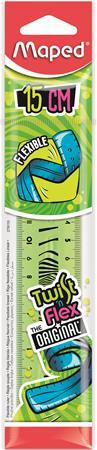"""MAPED Vonalzó, műanyag, törhetetlen, 15 cm, MAPED """"Twist'n Flex"""""""