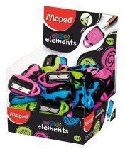 """MAPED Hegyező, egylyukú, MAPED """"Elements"""", vegyes színek display"""