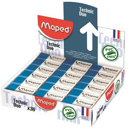 "MAPED Radír display, kombinált, MAPED ""Technic Duo"""