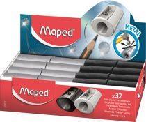 """MAPED Hegyező display, egylyukú, fém, MAPED """"Satellite"""", vegyes színek"""