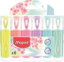 """MAPED Szövegkiemelő készlet, 1-5 mm, MAPED """"Fluo Peps Quality"""", 6 különböző pasztell szín"""