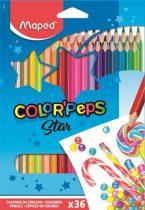 """MAPED Színes ceruza készlet, háromszögletű, MAPED """"Color'Peps"""", 36 különböző szín"""